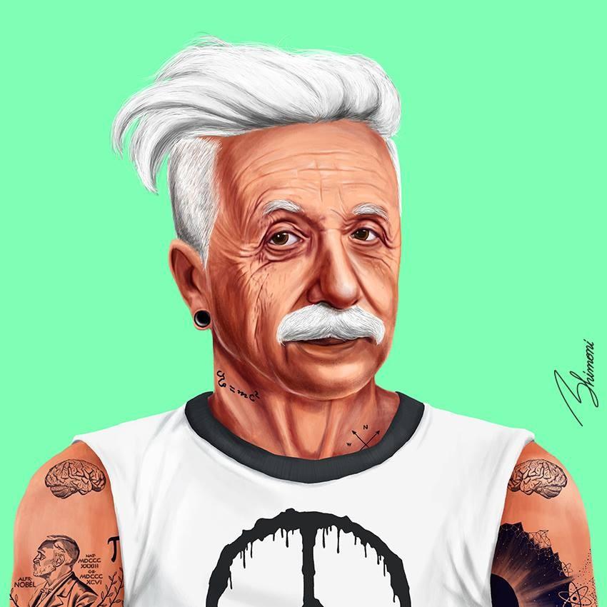 אלברט איינשטיין - תמונה היפסטורי