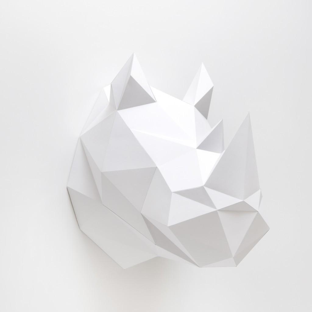 קיפולי נייר - קרנף