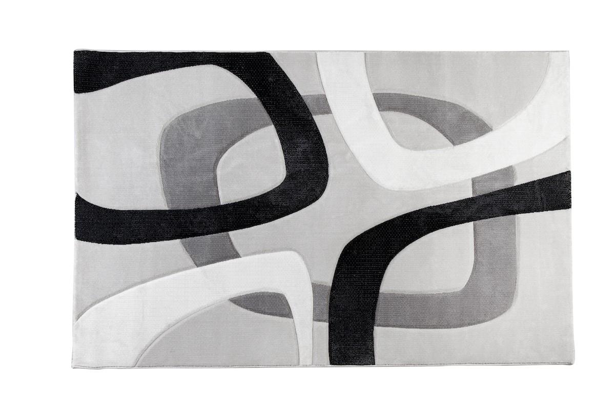 שטיח עיגולים אפור