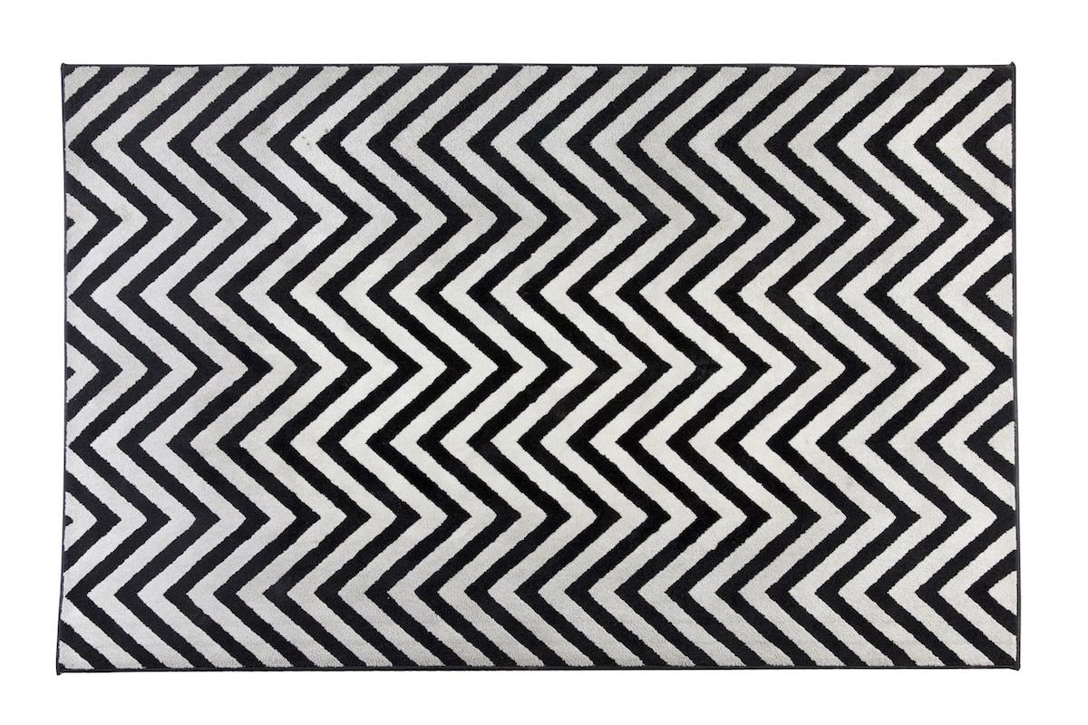 שטיח זיגזג שחור
