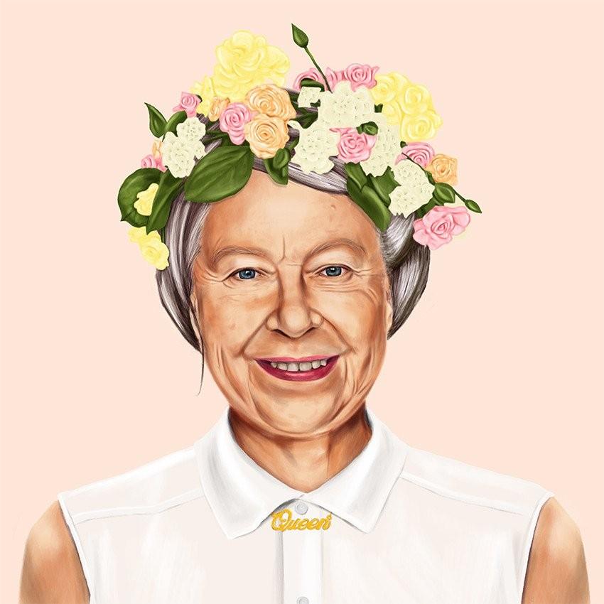 המלכה אליזבת - תמונה היפסטורי