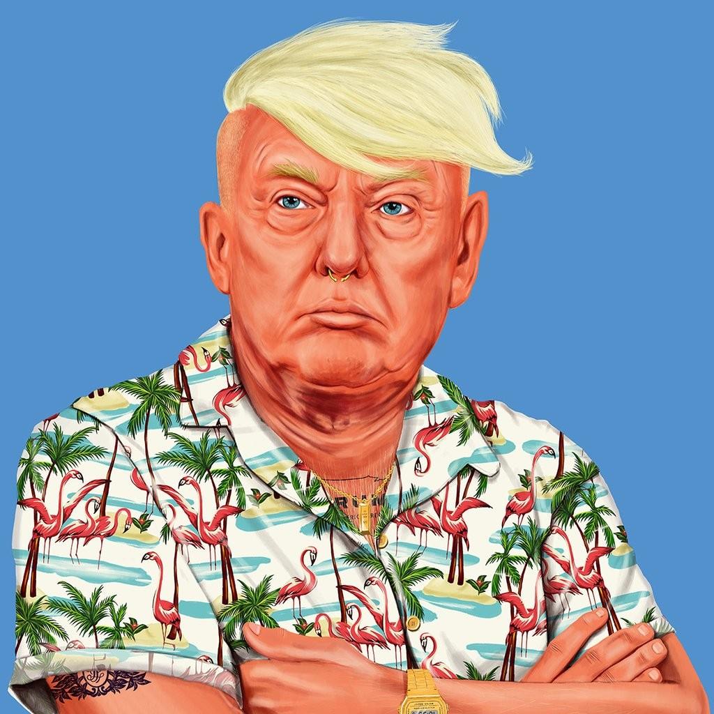 דונלד טראמפ - תמונה היפסטורי