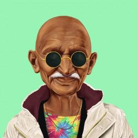 גנדי - תמונה היפסטורי