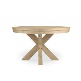 שולחן אוכל עגול חצובה -3980 שח