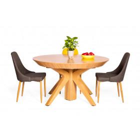 שולחן אוכל בוסטון -14 סועדים וכיסאות סיוון