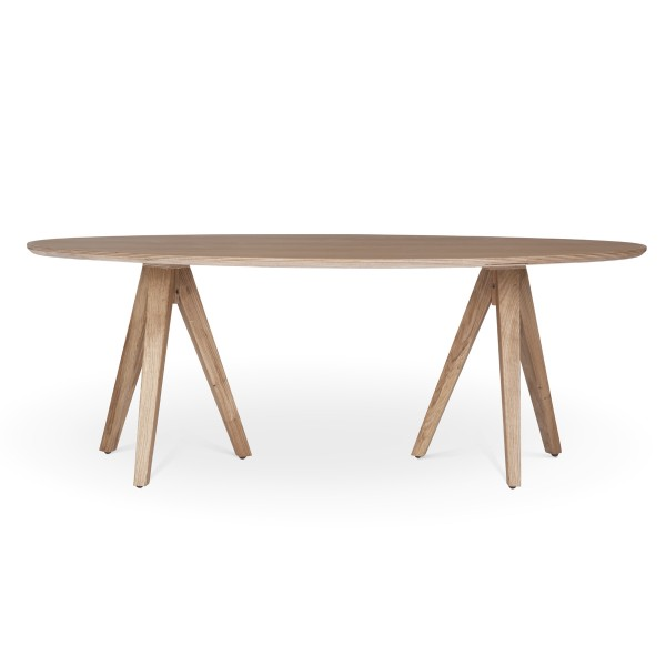 שולחן סלוני אליפסה חצובה