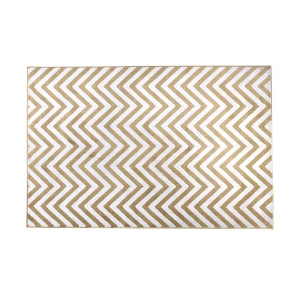 שטיח זיגזג צהוב