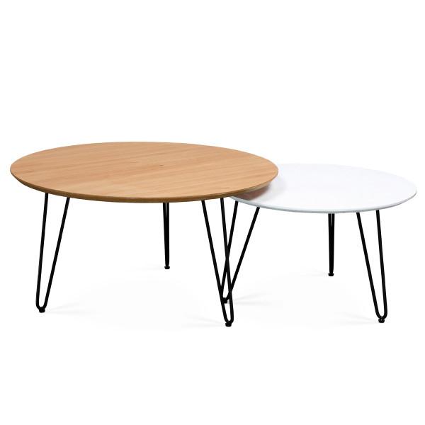 זוג שולחן סלוני עגול סיכה -1100 שח