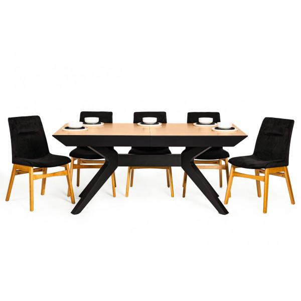 שולחן אוכל ונוס-18 סועדים וכיסאות וולבט